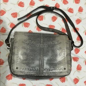 B. Makowsky snakeskin print leather bag